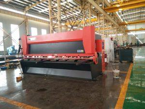 12х3200мм стоманена плоча машина за гилотина 3000мм метална машина за рязане на ламарина 12мм Електрически