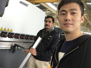 Алжир клиент тестване Преса спирачна машина в нашата фабрика
