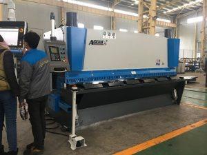 Хидравлична машина за гилотина MS8-8 × 3200 с система за подвързване на листа