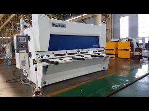 Машина за прорязване на гилотина с променлива рейк с CNC система ELGO P40T