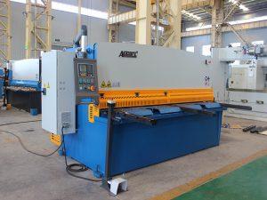 QC11y-16X3200 cnc рязане от неръждаема стомана автоматична хидравлична желязна плоча гилотина срязване машина с E21