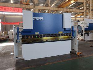 200 тона преса машина, хидравлично ръчно огъване машина