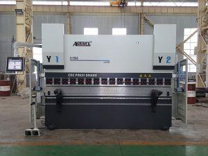 2 задни габаритни пръсти CNC машина за пресоване 63 тона 1500 мм бързо затягане на инструмента